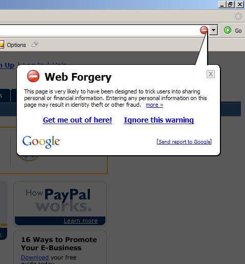 Firefox Phishing Detection. Bravo!