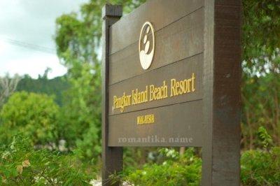 Pangkor Island Beach Resort Signboard