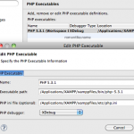 PHP Debugging on PDT using Xdebug, with PHP packaged in XAMPP