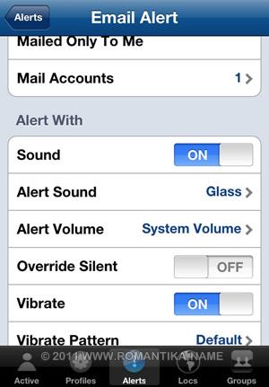 Problems Saving Alerts in MyProfiles